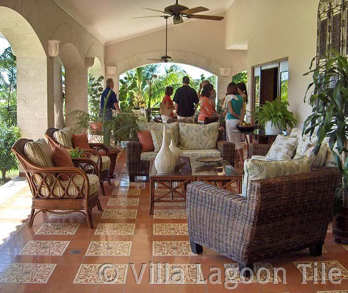 Cost Saving Cement Tile Layout The Ratio Of 1 Color Tiles To Pattern Is
