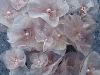 Handmade organza flowers