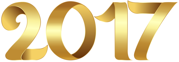 Gold 2017 Transparent PNG Clip Art Image | 2017 ...