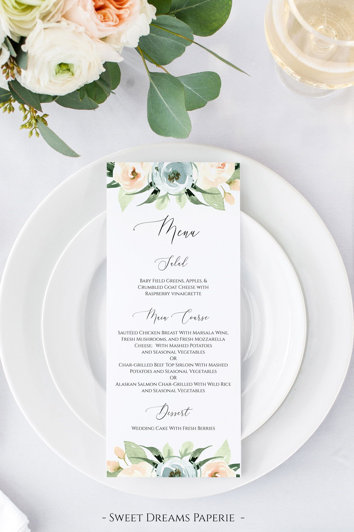 Best Wedding Menu Cards From Real Celebrations Diy Wedding Menu Simple Menu Menu Cards