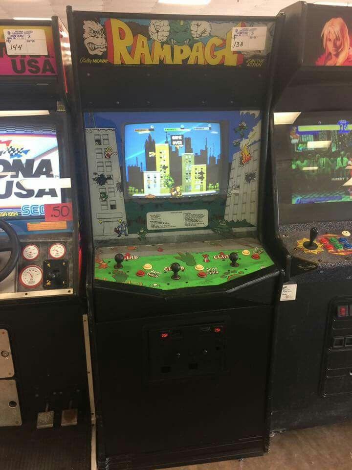 Rampage arcade game Retro video games, Arcade games, Arcade