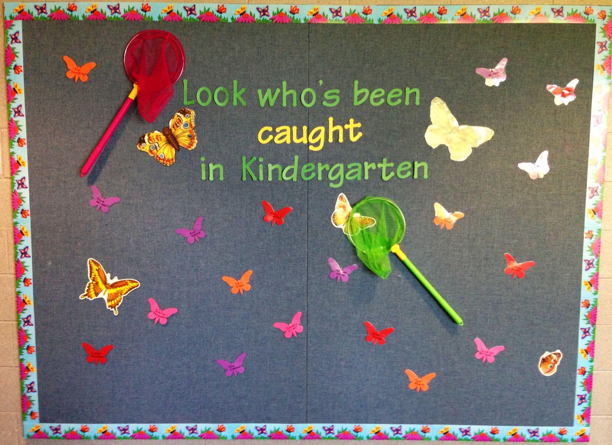 Looks Who S Been Caught In Kindergarten Bullentin Board