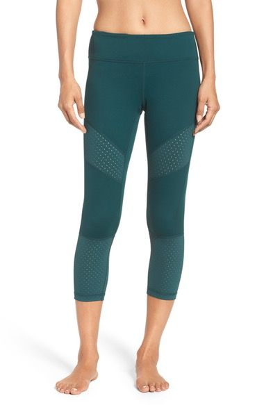 cdc5181238a698 Love this color perfect for Spring. Zella To the Max Crop Leggings  available at #Nordstrom