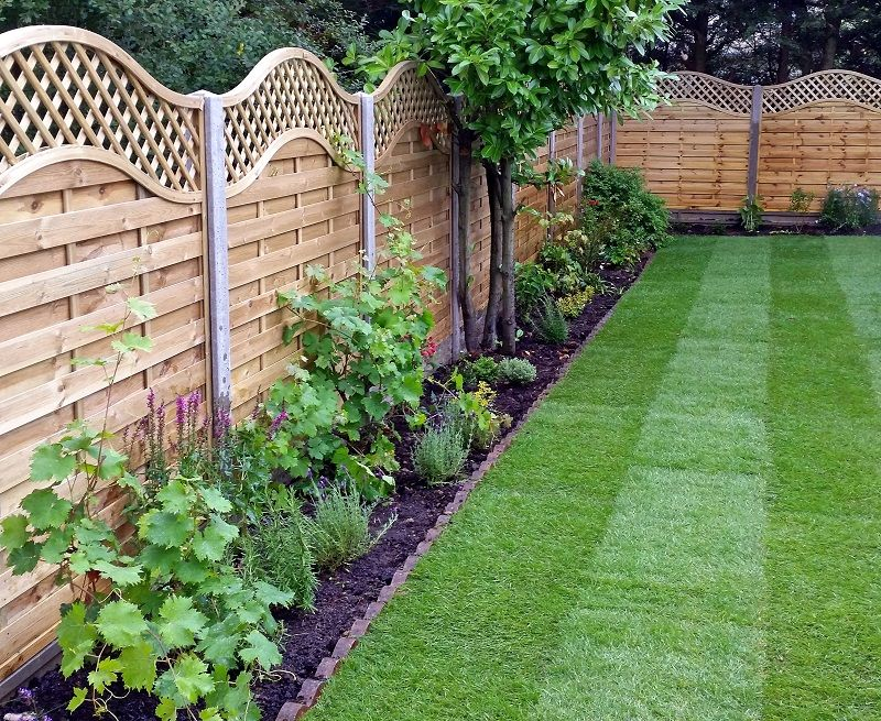 wooden garden fencing ideas, pirsford panel with covex top | outdoor ...