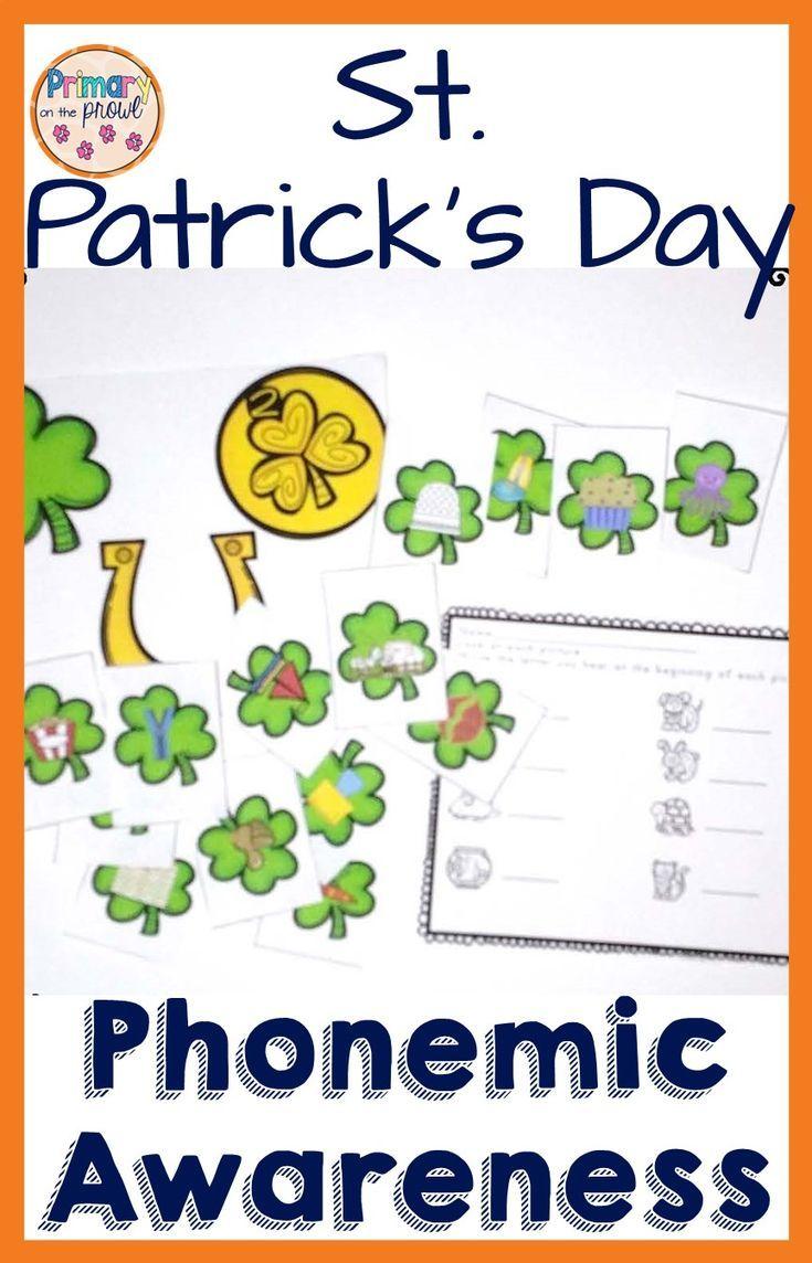 St. Patrick's Day Phonemic Awareness Activities   Phonemic ...