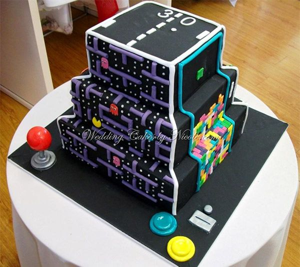 Awesome The Ultimate Arcade Game Cake Make Your Cake And Eat It