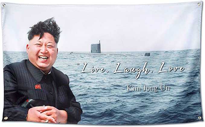 Amazon Com Xinttka Kim Jong Un Flag Live Laugh Love Quote Banner 300d Thicker Fabric Mancave Wall Tapestr In 2021 Live Laugh Love Quotes Live Laugh Love Quote Banner