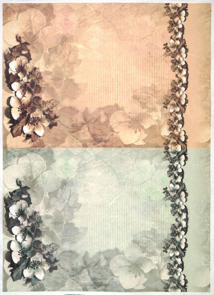 Rice Paper for Decoupage Decopatch Scrapbook Craft Sheet Vintage Magnolia Decor2
