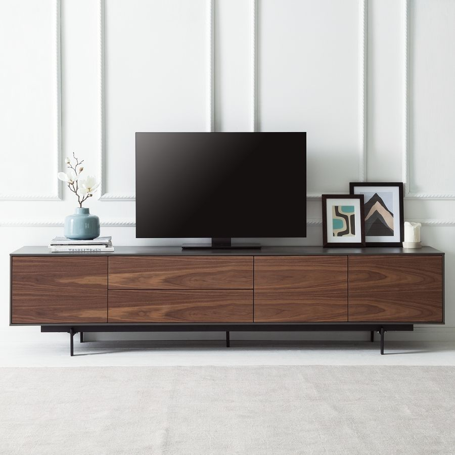 Tv Meubel Payara Walnotenhout Zwart Casanueva Pinterest Tv  # Meuble Tv En Pin