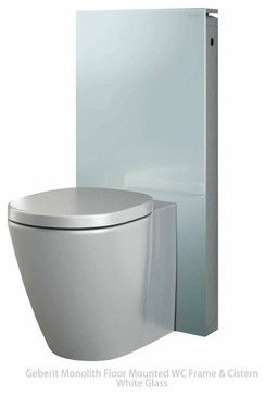 Geberit Monolith Toilet Frame And Cistern In White Glass Contemporary Toilets London Uk Bathrooms Contemporary Toilets Amazing Bathrooms White Glass