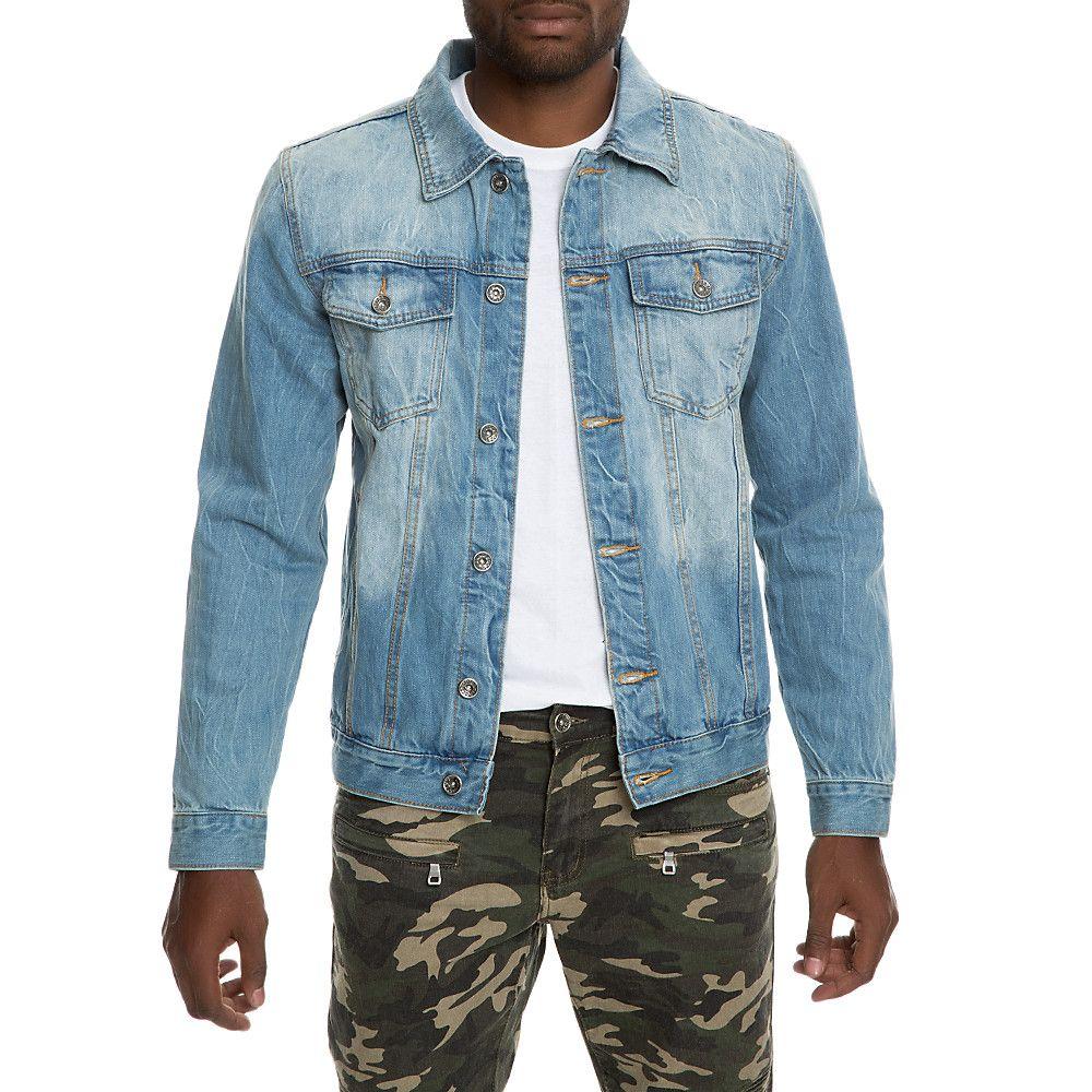 Men S Tom Denim Jacket Light Wash Lined Denim Jacket Denim Jacket Men Mens Fashion Rugged [ 1000 x 1000 Pixel ]