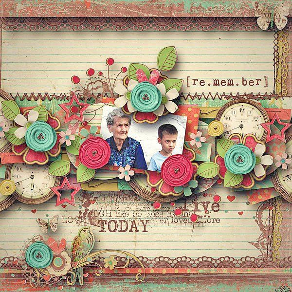 Scrapbookgraphics.com :: Kits :: THIS DAY: Page kit