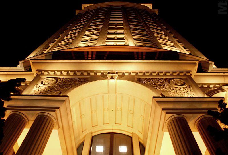 Fotografia de Arquitetura  linhas convergentes verticais