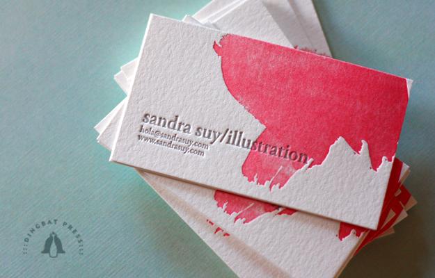 brush stroke + letterpress