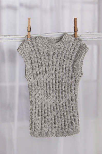 0cc830422 Free+Knitting+Pattern+-+Baby+Sweaters +Easy+Cables+Vest