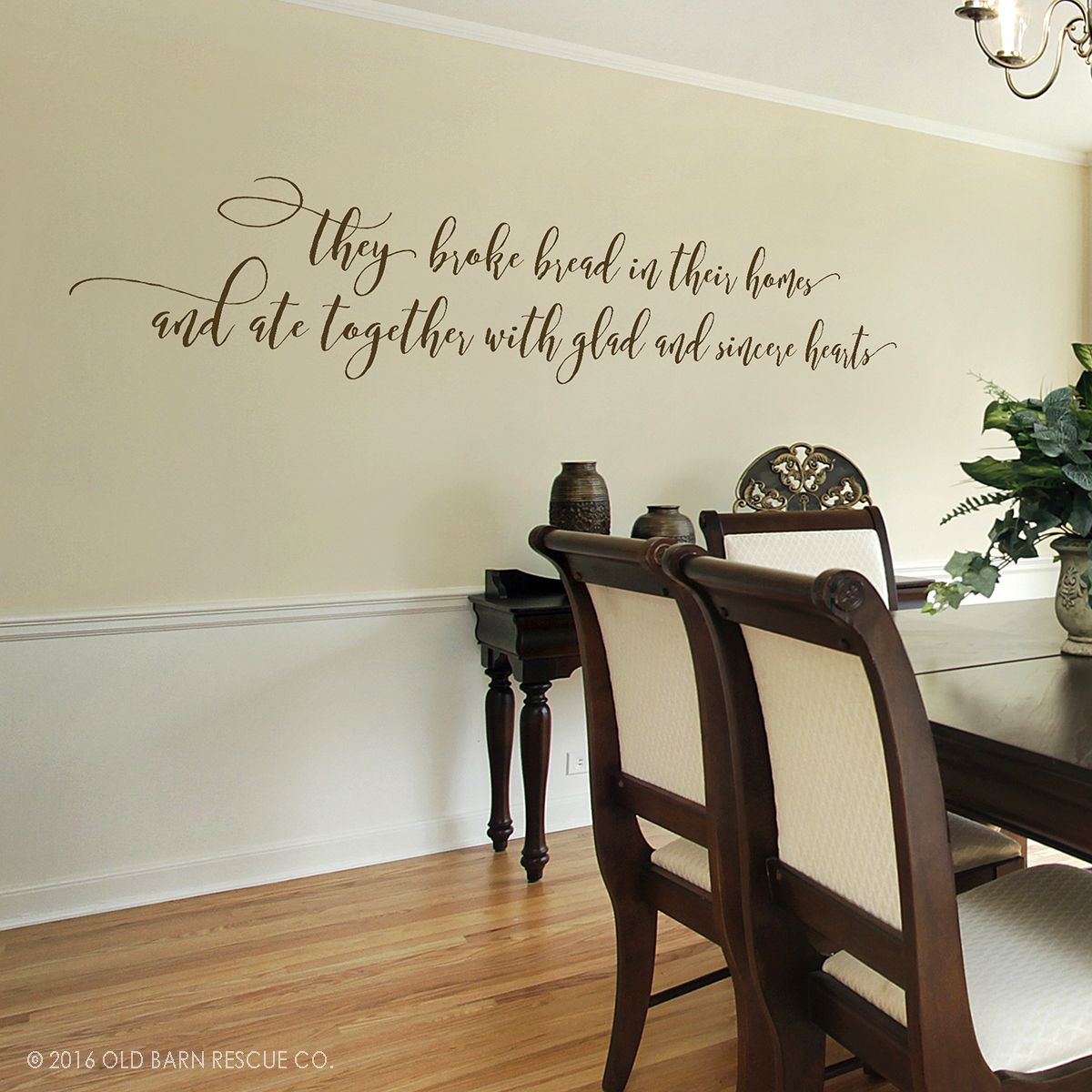 Bible Verse Decal They Broke Bread In Their Homes Christian - Wall stickers for dining roomdining room wall decals wall decal knife spoon fork wall decal