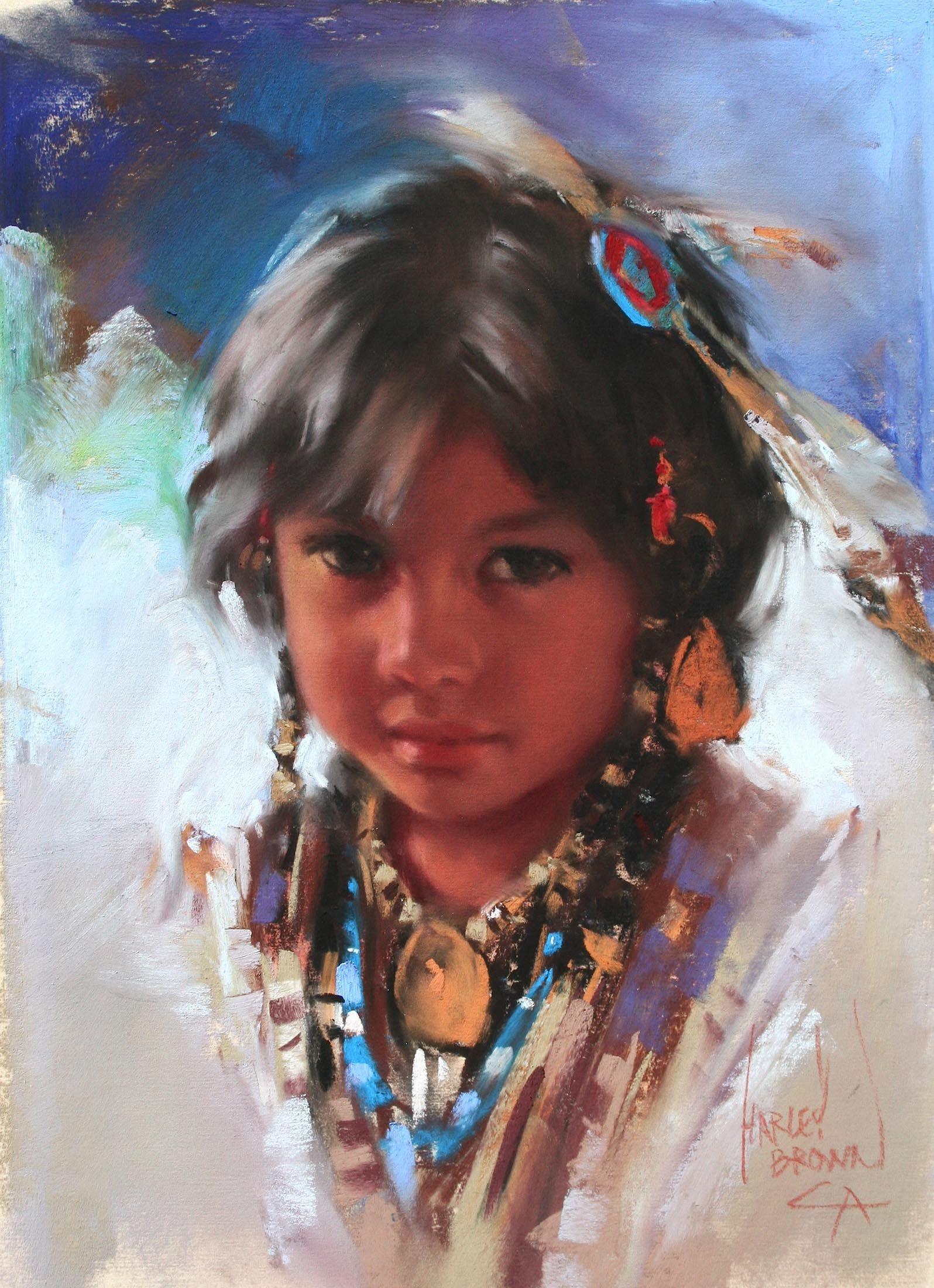 harley brown paintings Native american paintings