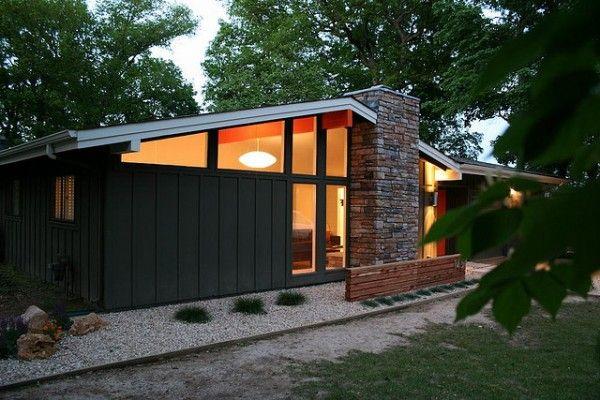 Midcentury Modern Dark Exterior Houses I Love