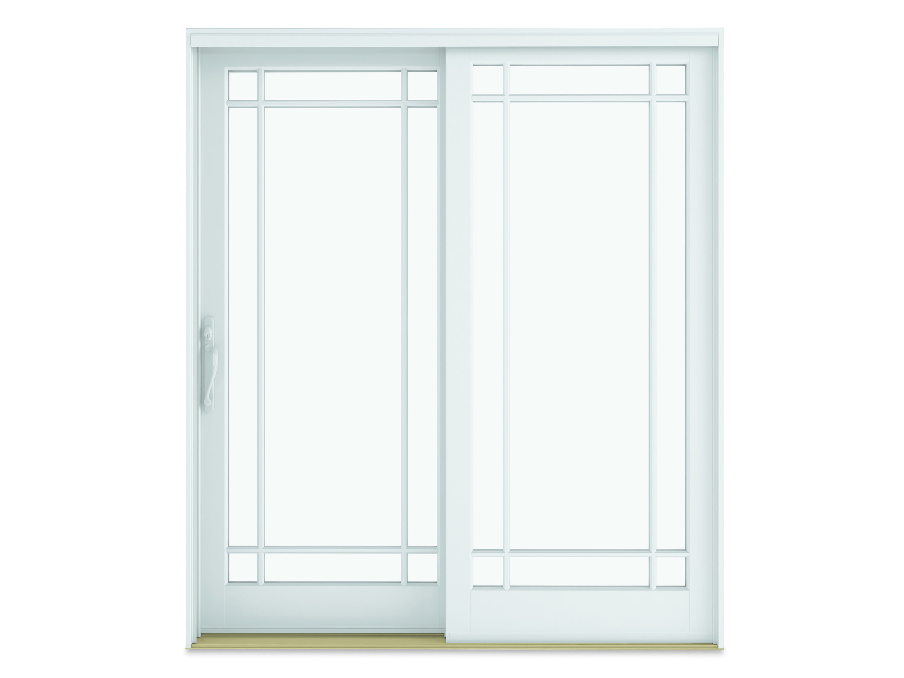 The Infinity From Marvin Sliding French Door Shown Here With Optional Simulated Divided Lites In A Prairi French Doors Glass French Doors Sliding French Doors