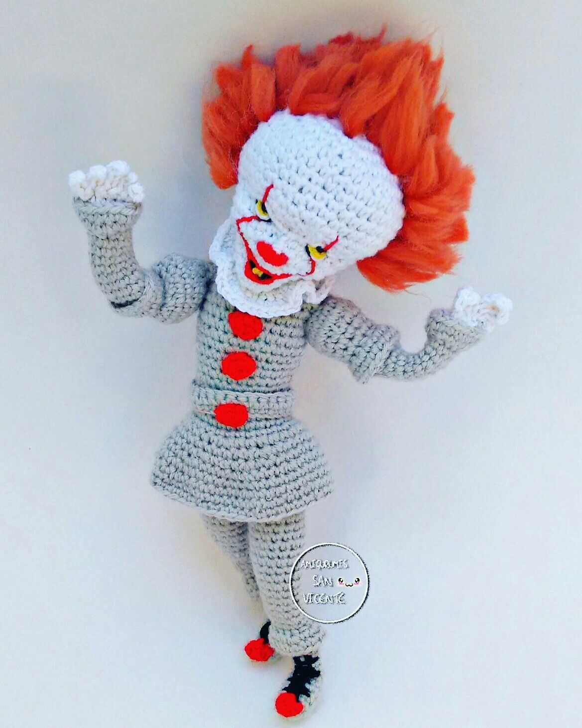 Pennywise Handmade Crochet Voodoo Doll