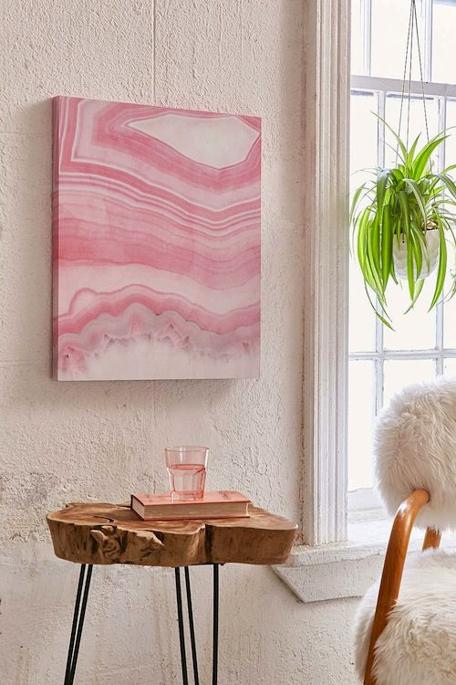 Millennial Pink Home Décor Pieces You Need to Buy ASAP | Unique wood ...