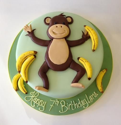 Astonishing Animal Birthday Cakes Monkey Birthday Cakes Cartoon Birthday Funny Birthday Cards Online Alyptdamsfinfo