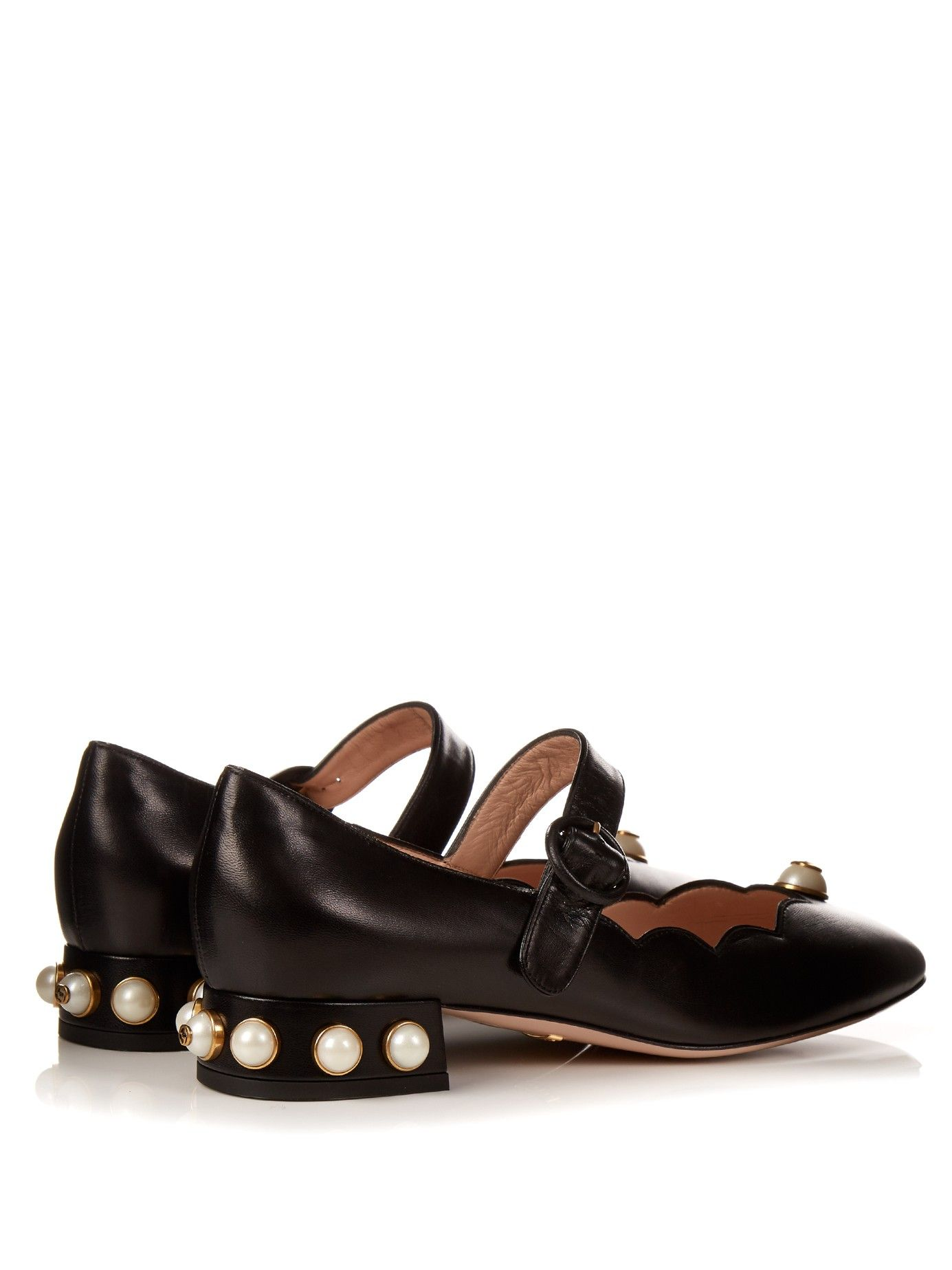 3469054b4 Willow faux-pearl embellished leather ballet pumps | Gucci |  MATCHESFASHION.COM US