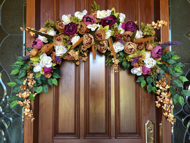 Wedding Arch Flowers, Peony Floral Swag, Window Swag
