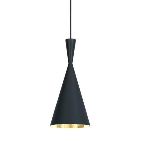 Lámpara colgante TOM DIXON  Beat Tall negra #material #iluminacion #interiorismo #diseño