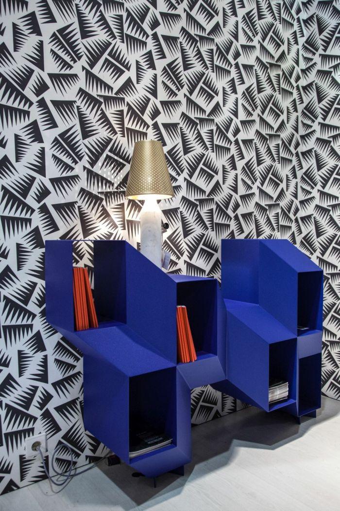 kreative wandgestaltung mit farbe wanddesign ideen dachboden holz ...