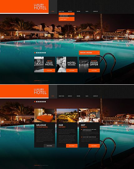 Template 43769 - Hotel Luxury Website Template | -Layout: Web ...