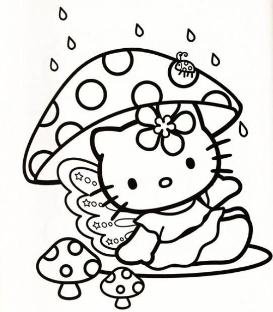 Hello Kitty Coloring Sheets Printables