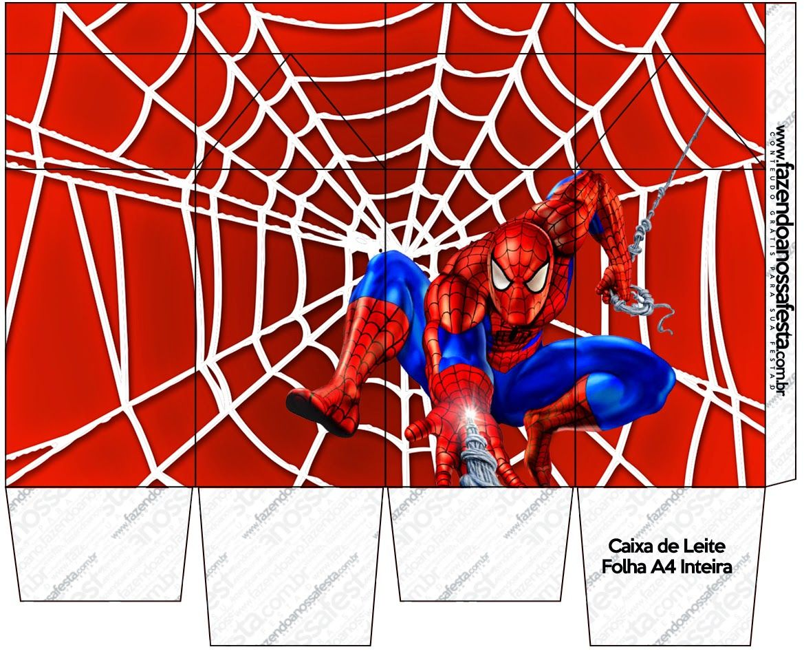 Spiderman: Free Printable Boxes. | paper-party set:superhero ...