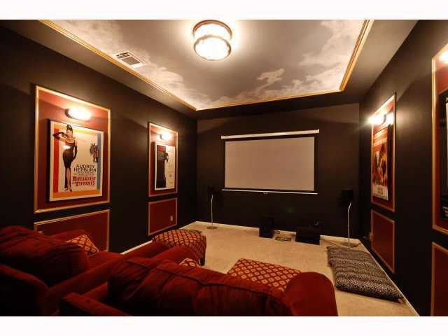 A very nice home theatre...if only the equipment were in a cabinet and not on the floor.