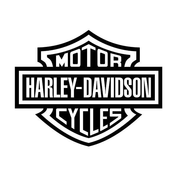 Harley davidson die cut vinyl decal pv224