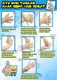 Hasil Gambar Untuk 7 Langkah Cuci Tangan Pendidikan Mencuci Tangan Sekolah