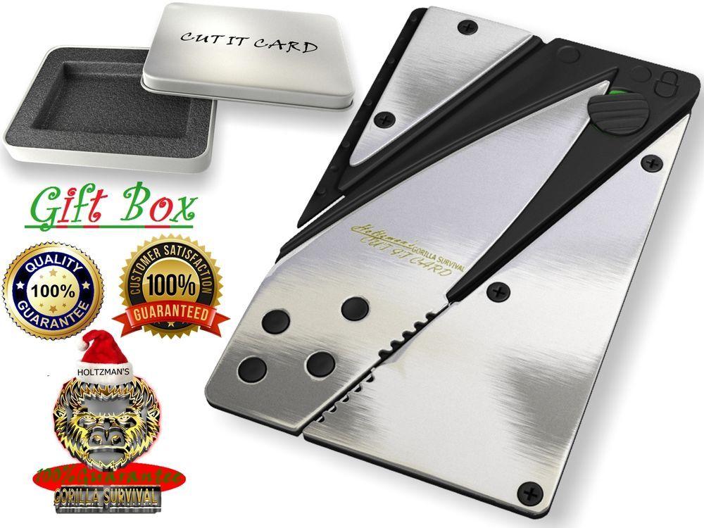 Card credit knife gift box folding survival wallet knives