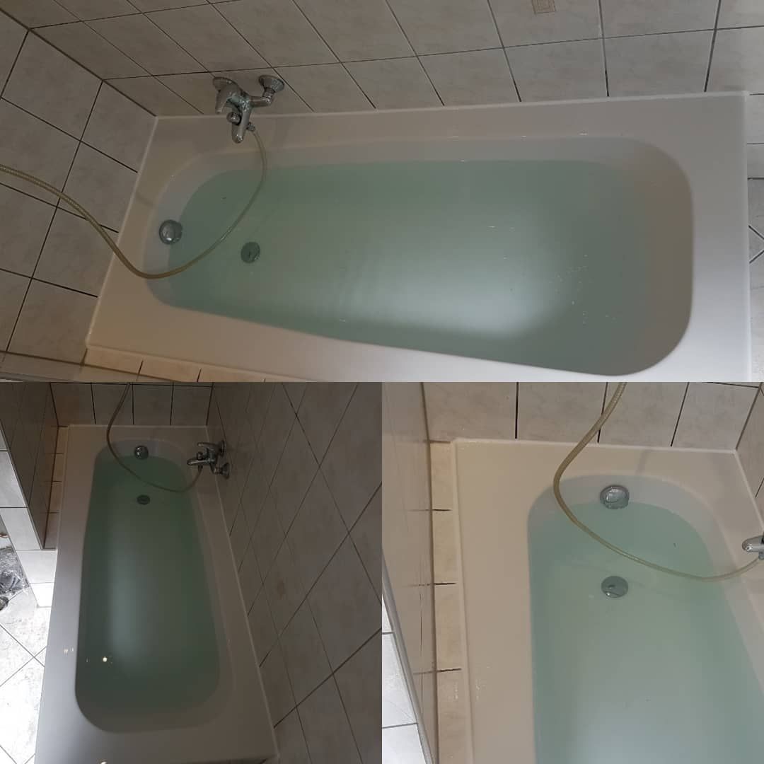 Alte Hassliche Wanne In Neuer Optik Keine Losungsmittel In Nur 3 Stunden Mit Neuer Ab Und Uberlaufgarnitur Hashtags Wannendoktor Wuppe Bathroom Bathtub
