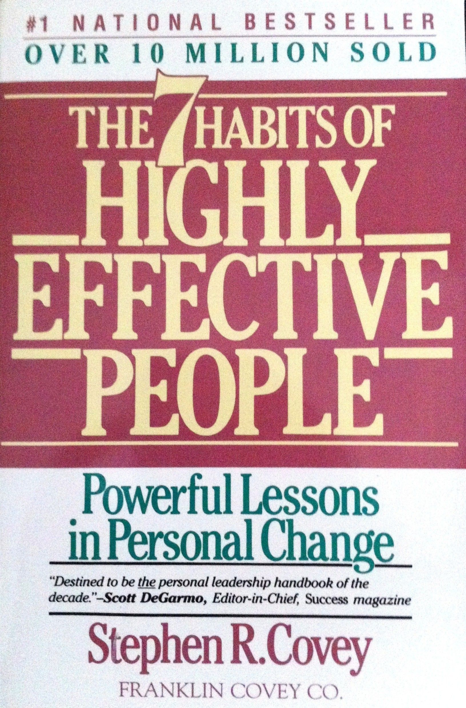 Steven R Covey The 7 Habits Of Highly Effective People Best