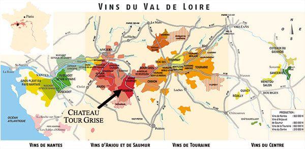 Vins Du Val De Loire Loire Valley Wine Wine Map Wine Region Map