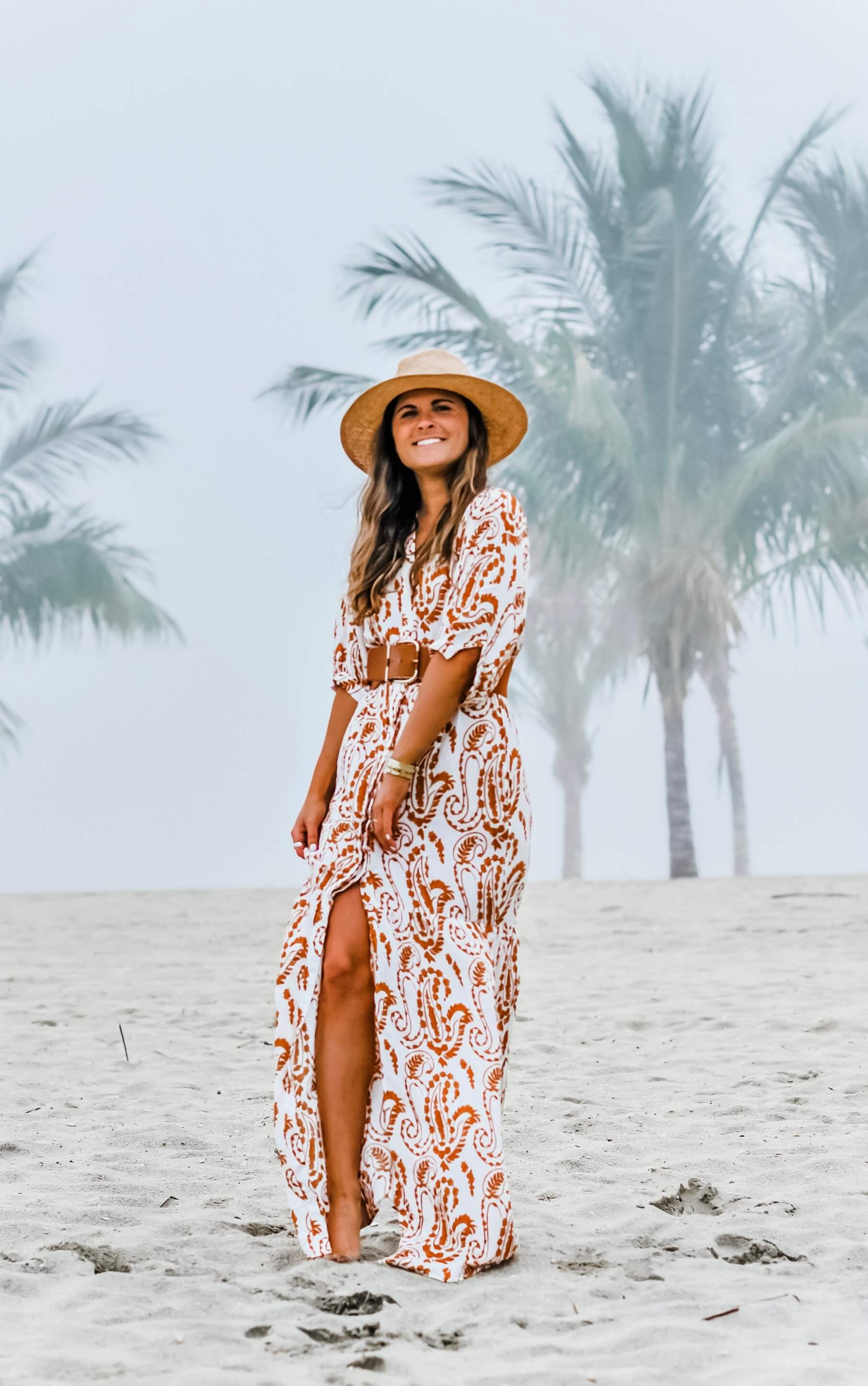 The Dress You Can Wear From Beach To Bar To Be Bright Dressy Summer Outfits Preppy Beach Outfits Paisley Print Maxi Dress [ 2888 x 1810 Pixel ]