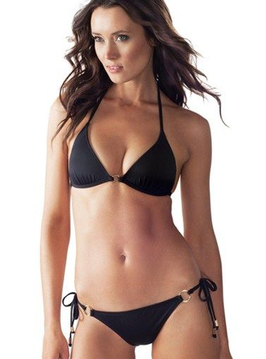 505932a0dfd66 Black Pepper Hoop Triangle Bikini - TOP Triangle top two piece bathing suit  - BOTTOM Available in moderate back coverage - SIZE Small, Medium, Large -  Price ...