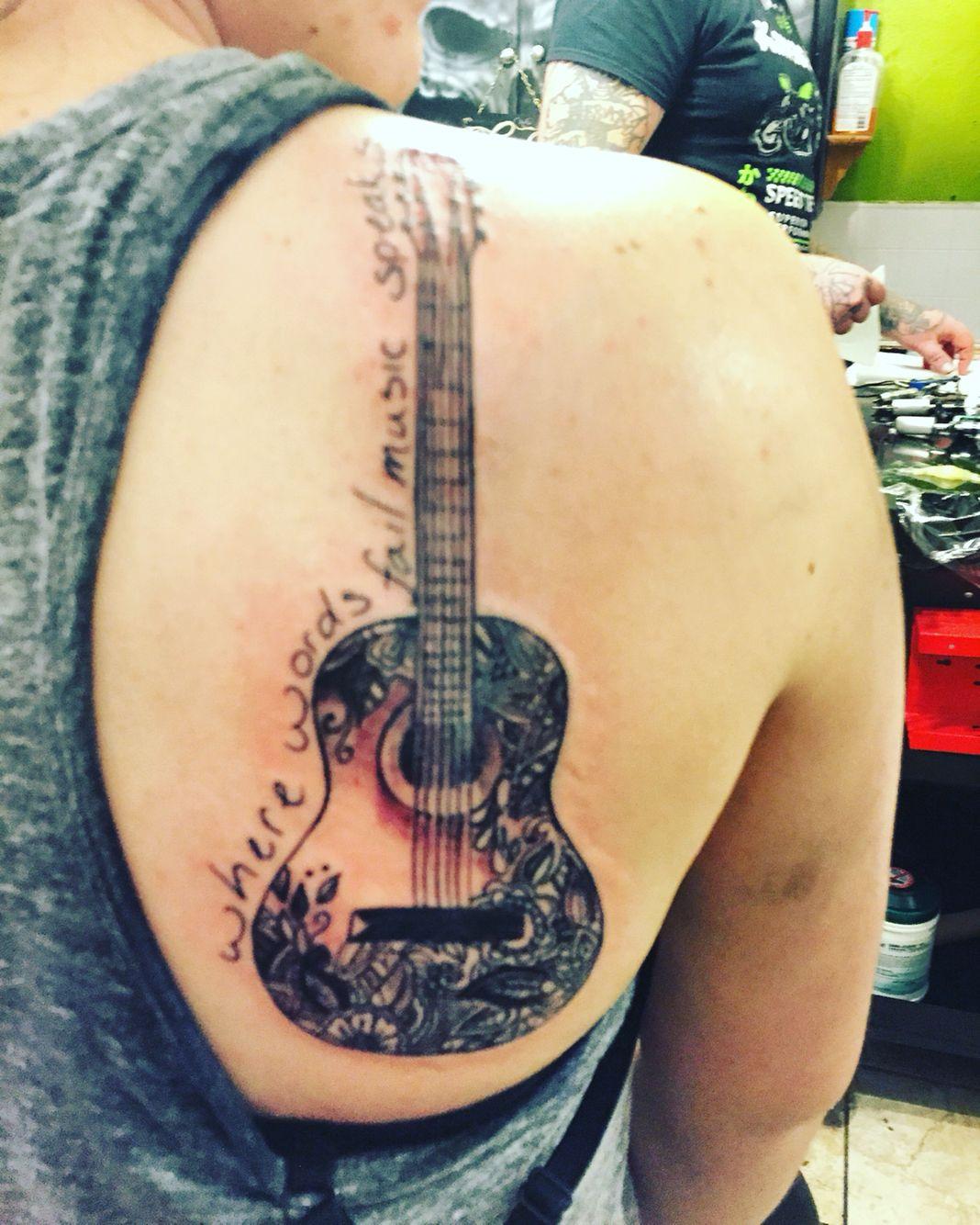Tattoo 2 Where Words Fail, Music Speaks Acoustic Guitar