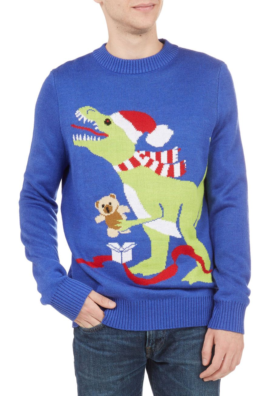 T-Rex the Halls Men's Sweater. Your favorite fellow will feel ...