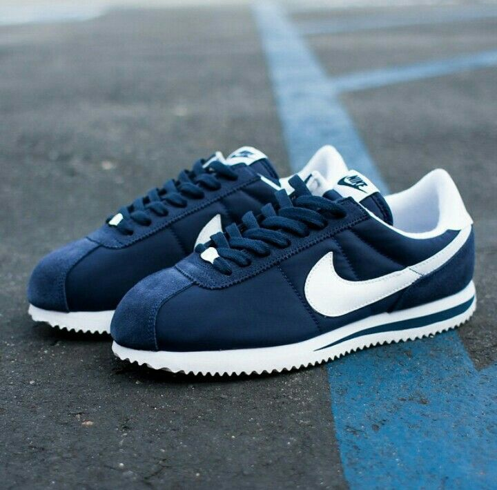 Navy Blue Cortez Nike Shoes Women Nike Shoes Outfits Navy Blue Shoes