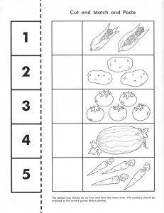 vegetable counting worksheet | Crafts and Worksheets for Preschool ...