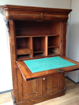 Bureau Kast Antiek.Antieke Kast Met Klep Bureau Antique Closet With Desktop 1450