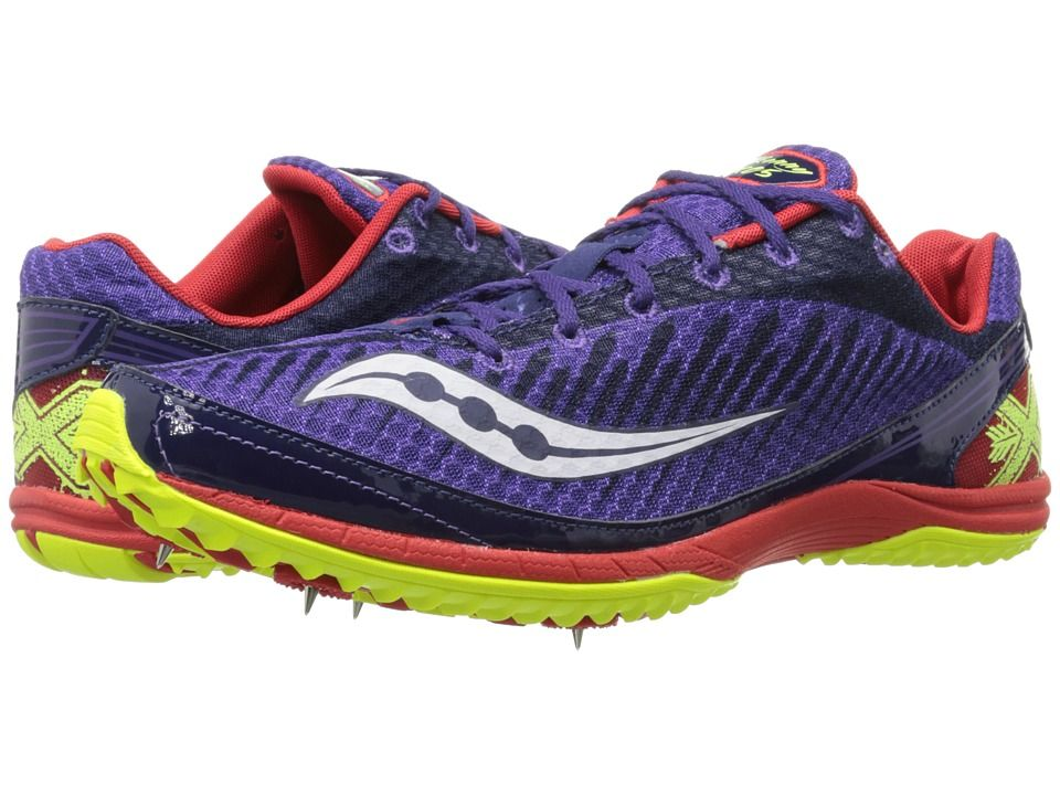 SAUCONY SAUCONY - KILKENNY XC5 SPIKE (PURPLE/RED/CITRON) MEN'S RUNNING SHOES