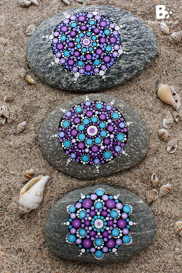 Mandala stones picture gallery colorful crafts elspeth for Crafts using stones