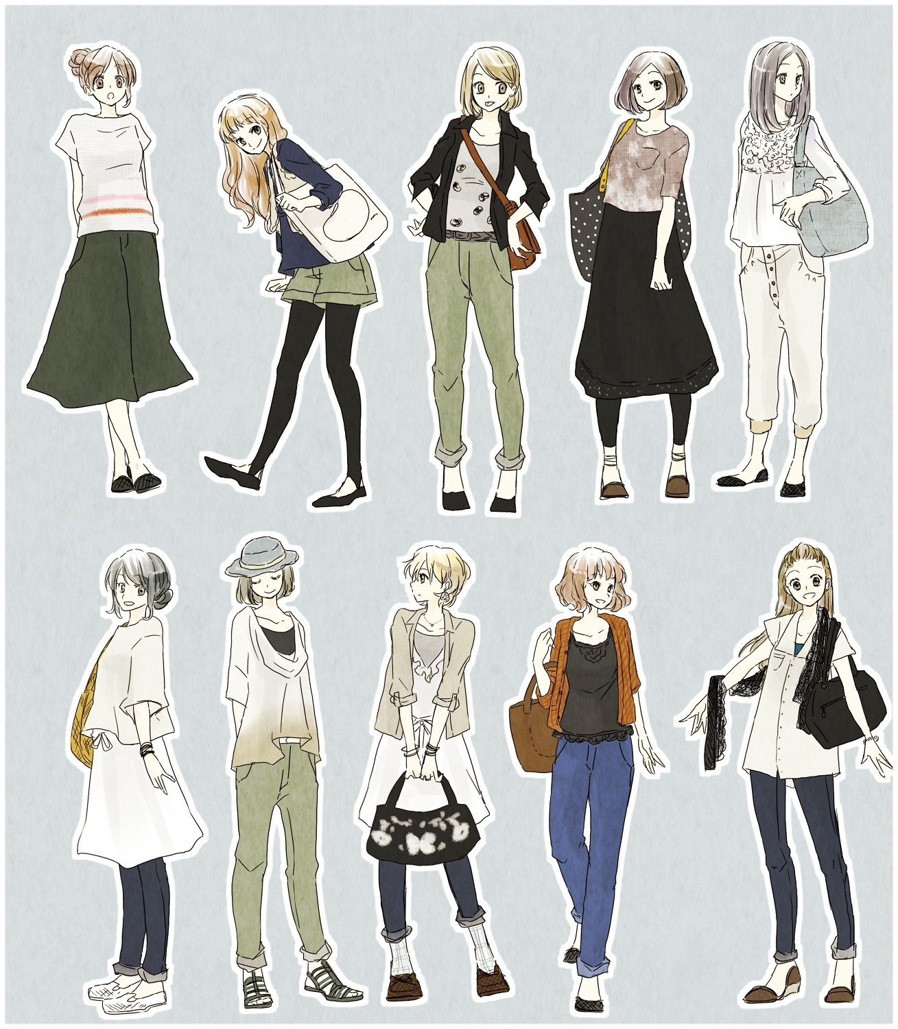 Outfits Anime Outfits Fashion Illustration Sketches Girl Drawing
